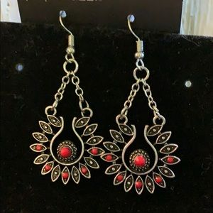 Sassy Red Dangle Earrings
